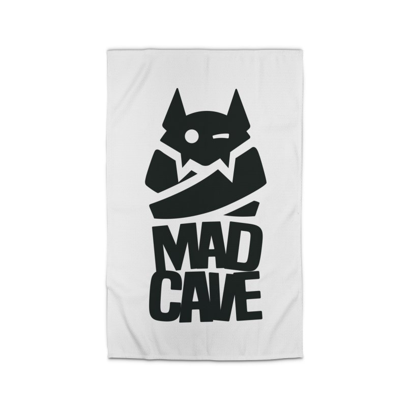 Mad Cave Logo Black Home Rug by MadCaveStudios's Artist Shop