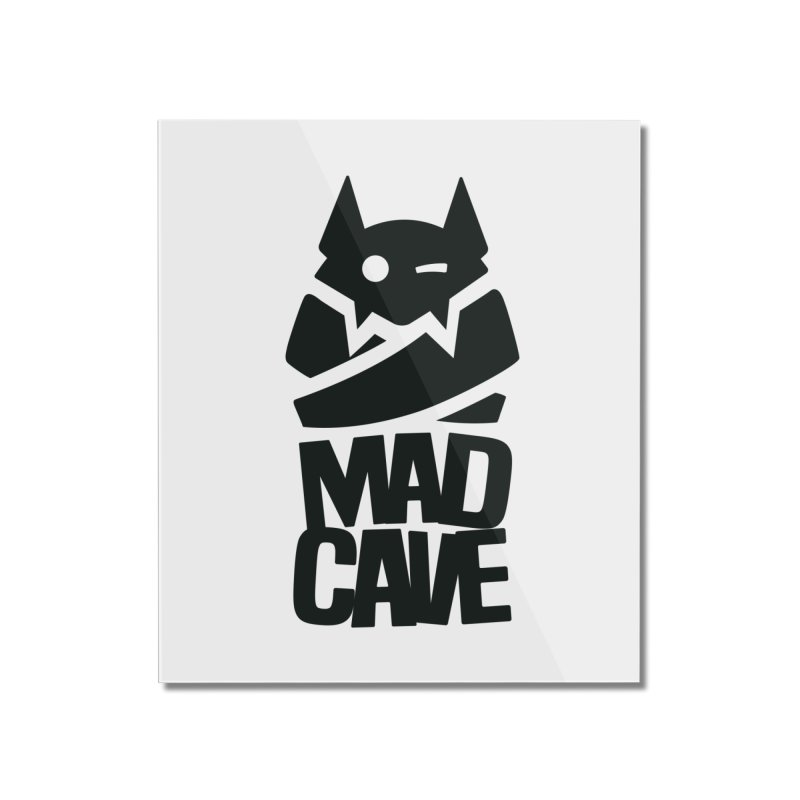 Mad Cave Logo Black Home Mounted Acrylic Print by MadCaveStudios's Artist Shop