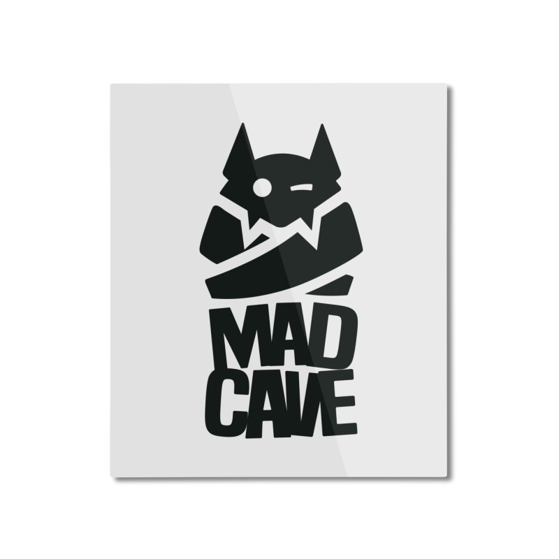Mad Cave Logo Black Home Mounted Aluminum Print by MadCaveStudios's Artist Shop