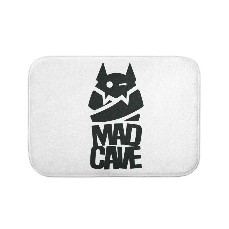 Mad Cave Logo Black Home Bath Mat by MadCaveStudios's Artist Shop