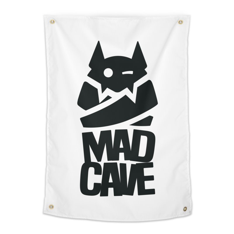 Mad Cave Logo Black Home Tapestry by MadCaveStudios's Artist Shop