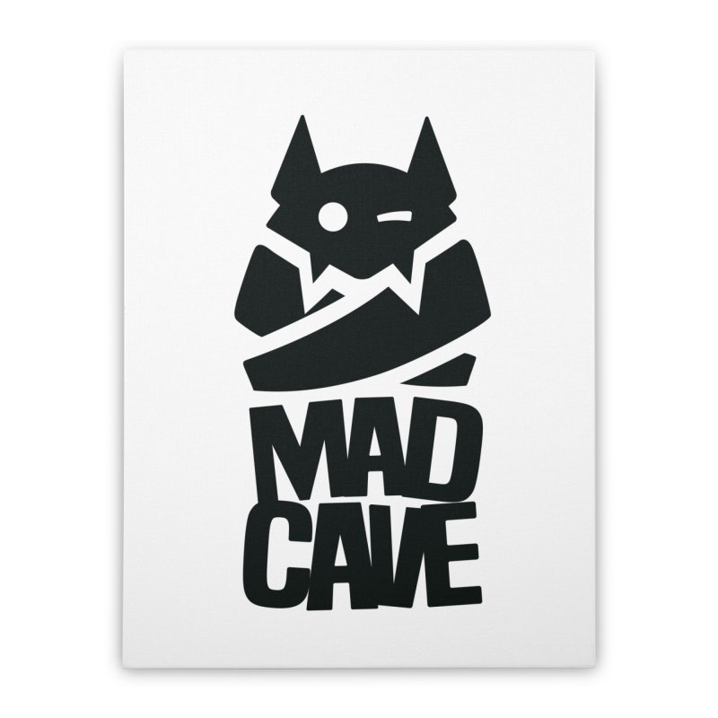Mad Cave Logo Black Home Stretched Canvas by MadCaveStudios's Artist Shop