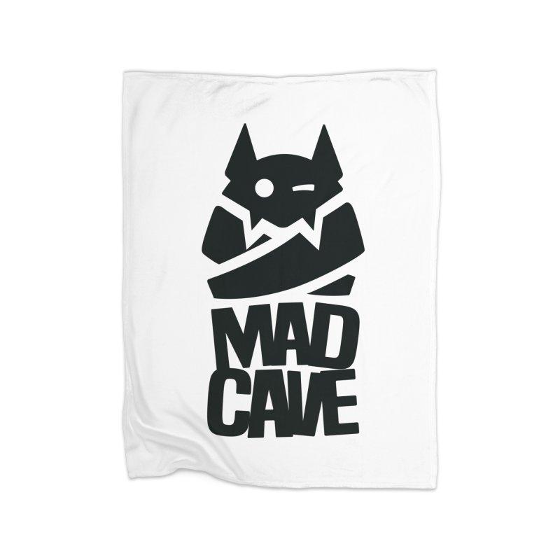 Mad Cave Logo Black Home Blanket by MadCaveStudios's Artist Shop