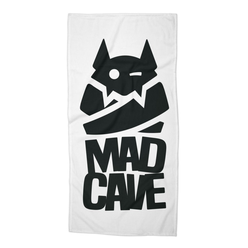 Mad Cave Logo Black Accessories Beach Towel by MadCaveStudios's Artist Shop