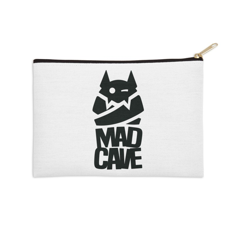 Mad Cave Logo Black Accessories Zip Pouch by MadCaveStudios's Artist Shop