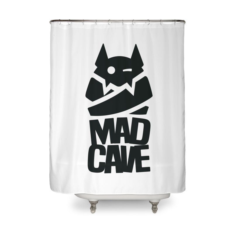 Mad Cave Logo Black Home Shower Curtain by MadCaveStudios's Artist Shop