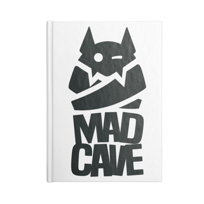 Mad Cave Logo Black Accessories Notebook by MadCaveStudios's Artist Shop