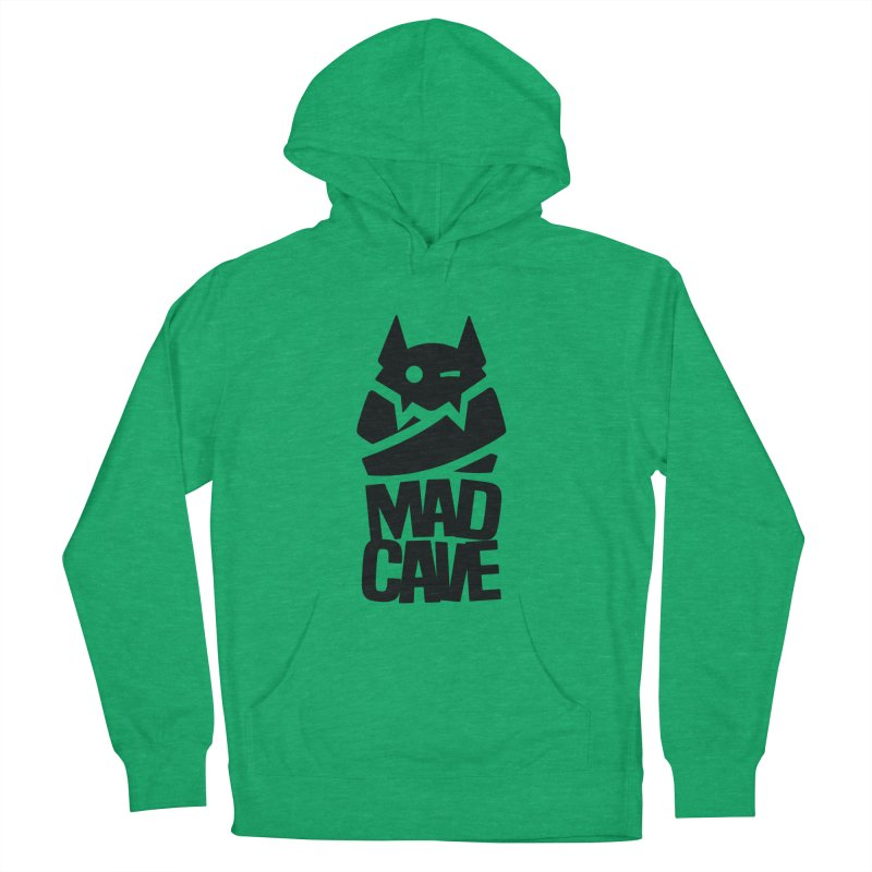 Mad Cave Logo Black Women's French Terry Pullover Hoody by Mad Cave Studios's Artist Shop