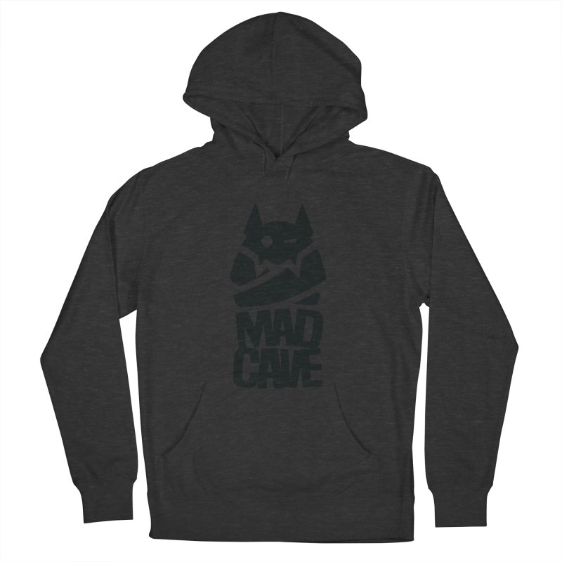 Mad Cave Logo Black Women's French Terry Pullover Hoody by MadCaveStudios's Artist Shop