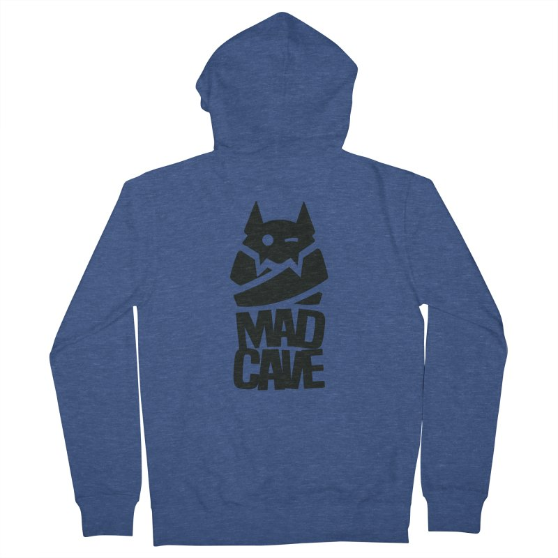 Mad Cave Logo Black Women's French Terry Zip-Up Hoody by MadCaveStudios's Artist Shop