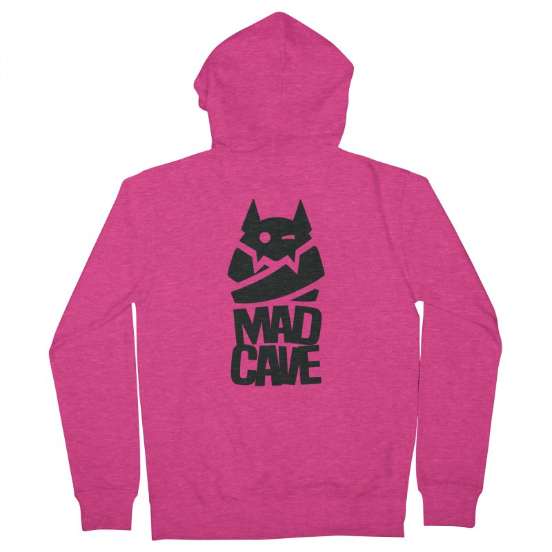 Mad Cave Logo Black Women's French Terry Zip-Up Hoody by Mad Cave Studios's Artist Shop