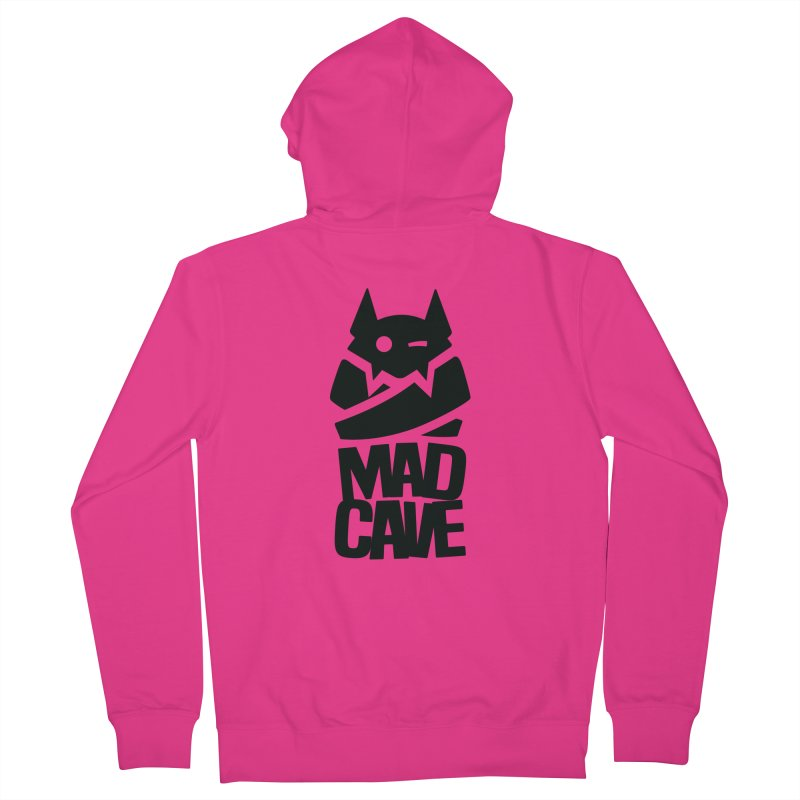 Mad Cave Logo Black Men's French Terry Zip-Up Hoody by MadCaveStudios's Artist Shop