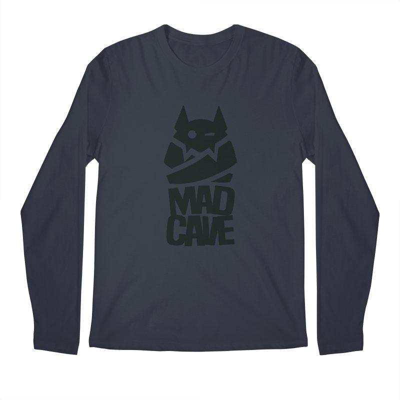 Mad Cave Logo Black Men's Regular Longsleeve T-Shirt by MadCaveStudios's Artist Shop