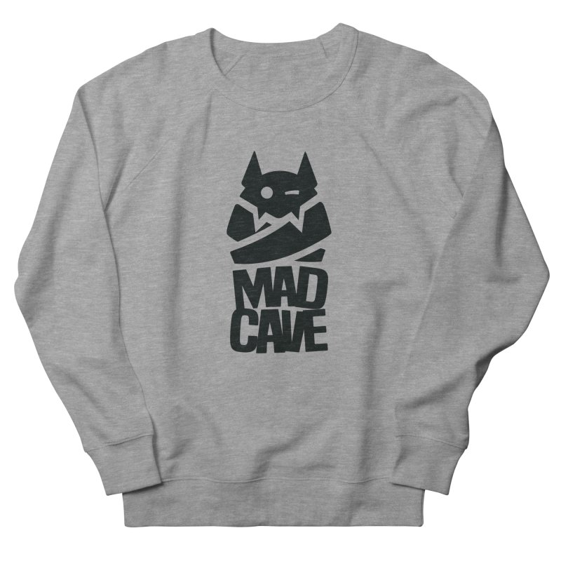 Mad Cave Logo Black Women's French Terry Sweatshirt by MadCaveStudios's Artist Shop
