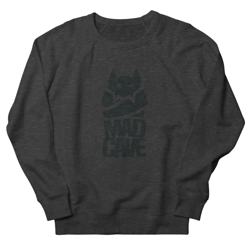 Mad Cave Logo Black Men's French Terry Sweatshirt by MadCaveStudios's Artist Shop