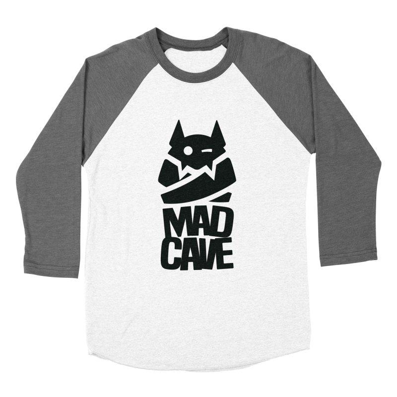 Mad Cave Logo Black Women's Baseball Triblend Longsleeve T-Shirt by Mad Cave Studios's Artist Shop
