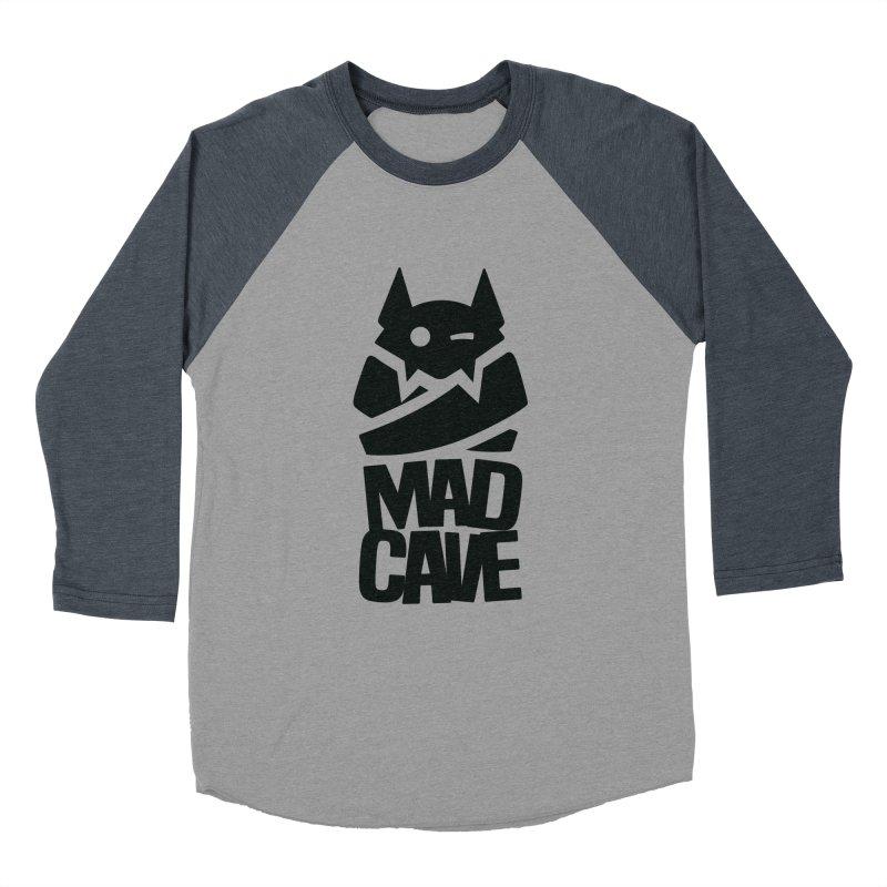 Mad Cave Logo Black Women's Baseball Triblend Longsleeve T-Shirt by MadCaveStudios's Artist Shop