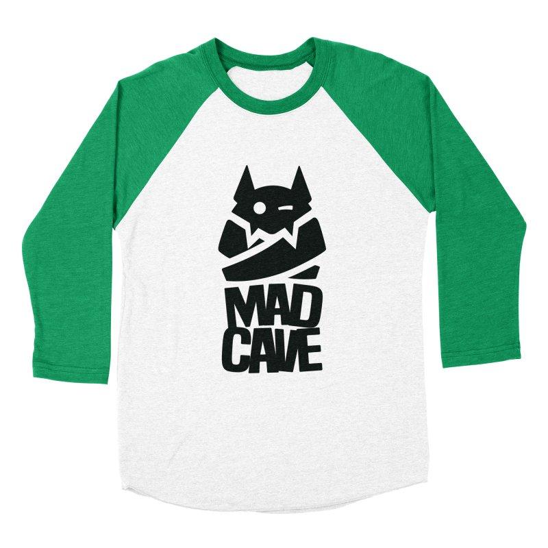 Mad Cave Logo Black Men's Baseball Triblend Longsleeve T-Shirt by MadCaveStudios's Artist Shop