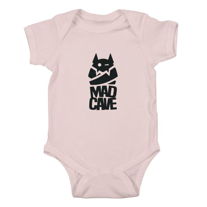 Mad Cave Logo Black Kids Baby Bodysuit by Mad Cave Studios's Artist Shop