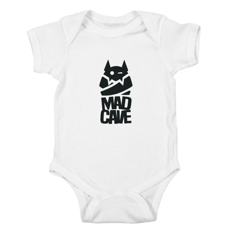 Mad Cave Logo Black Kids Baby Bodysuit by MadCaveStudios's Artist Shop