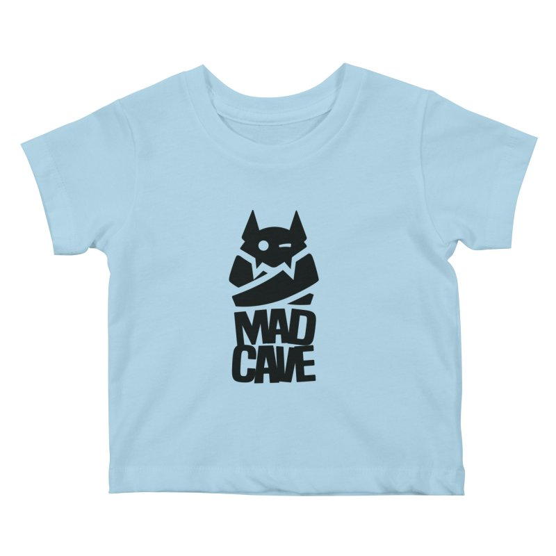 Mad Cave Logo Black Kids Baby T-Shirt by MadCaveStudios's Artist Shop