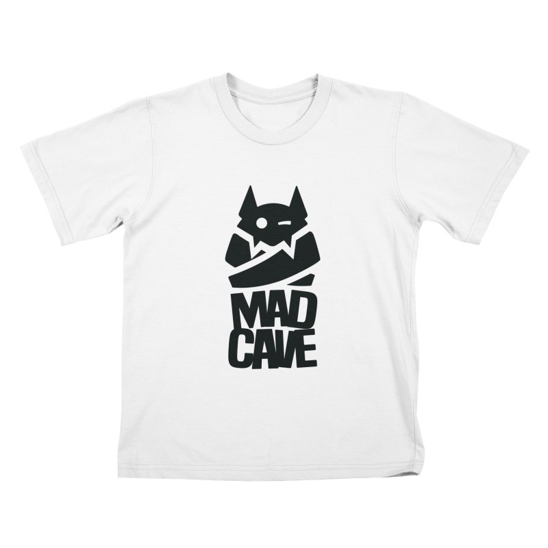 Mad Cave Logo Black Kids T-Shirt by Mad Cave Studios's Artist Shop