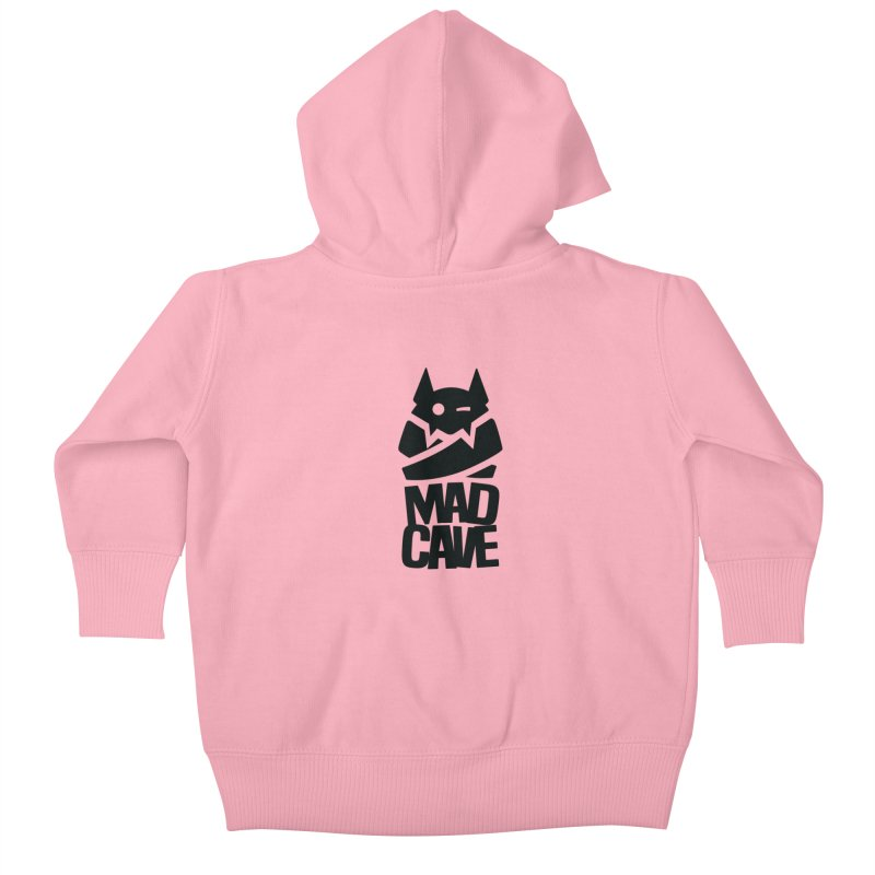 Mad Cave Logo Black Kids Baby Zip-Up Hoody by Mad Cave Studios's Artist Shop
