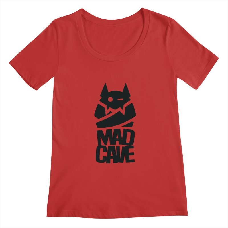 Mad Cave Logo Black Women's Regular Scoop Neck by Mad Cave Studios's Artist Shop