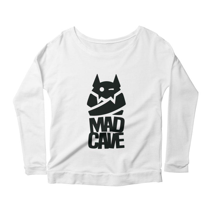 Mad Cave Logo Black Women's Scoop Neck Longsleeve T-Shirt by Mad Cave Studios's Artist Shop