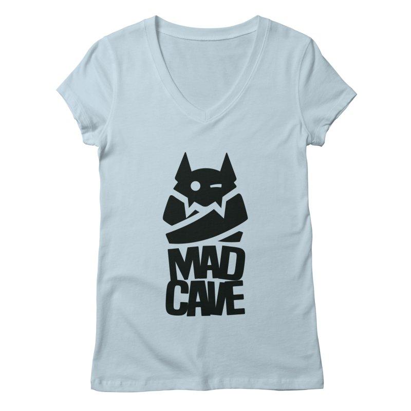 Mad Cave Logo Black Women's Regular V-Neck by Mad Cave Studios's Artist Shop