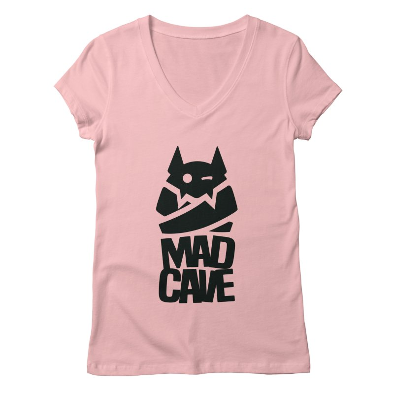Mad Cave Logo Black Women's Regular V-Neck by Mad Cave Studios's Artist Shop