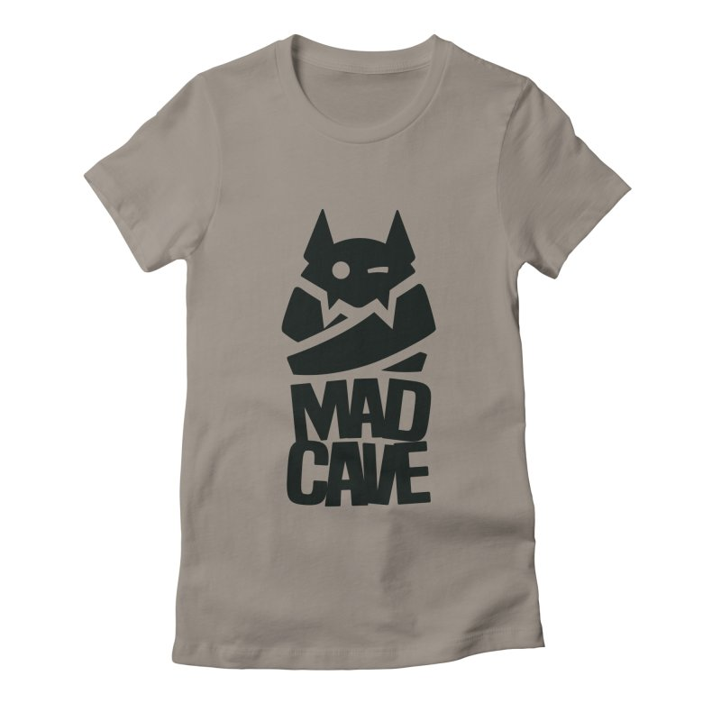 Mad Cave Logo Black Women's Fitted T-Shirt by MadCaveStudios's Artist Shop