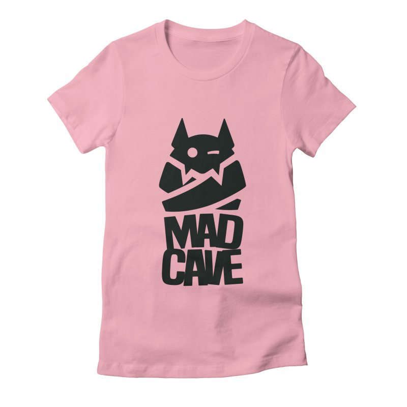 Mad Cave Logo Black Women's Fitted T-Shirt by Mad Cave Studios's Artist Shop