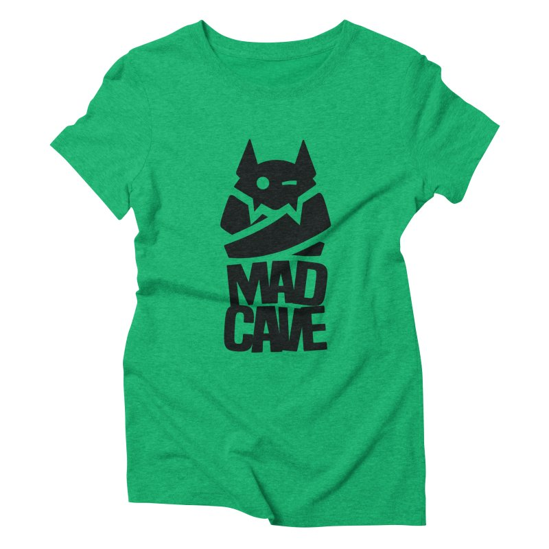 Mad Cave Logo Black Women's Triblend T-Shirt by MadCaveStudios's Artist Shop