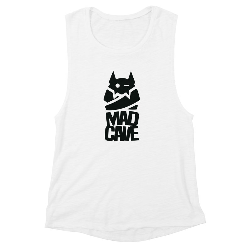Mad Cave Logo Black Women's Muscle Tank by Mad Cave Studios's Artist Shop