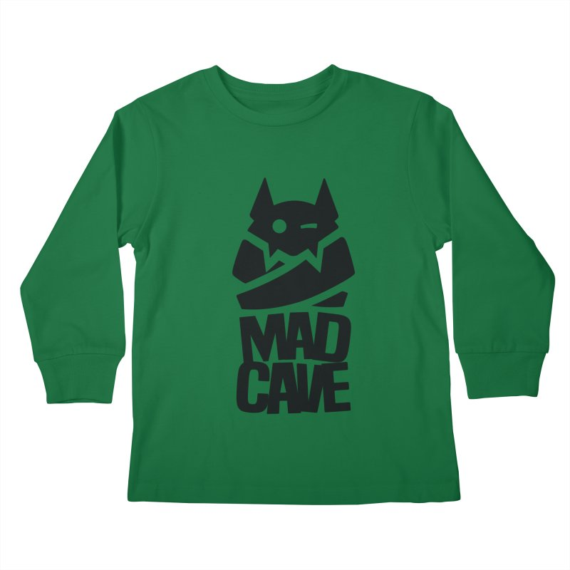 Mad Cave Logo Black Kids Longsleeve T-Shirt by MadCaveStudios's Artist Shop