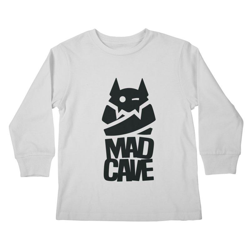 Mad Cave Logo Black Kids Longsleeve T-Shirt by Mad Cave Studios's Artist Shop