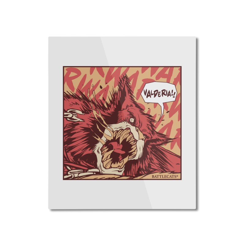 Battlecats Pop Art - Valderia! Home Mounted Aluminum Print by Mad Cave Studios's Artist Shop