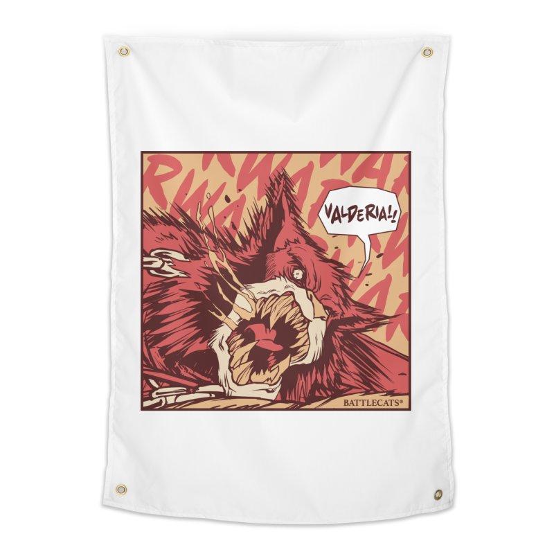 Battlecats Pop Art - Valderia! Home Tapestry by Mad Cave Studios's Artist Shop