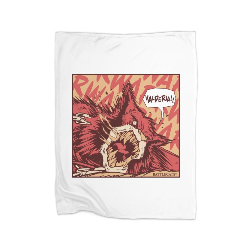 Battlecats Pop Art - Valderia! Home Fleece Blanket Blanket by Mad Cave Studios's Artist Shop