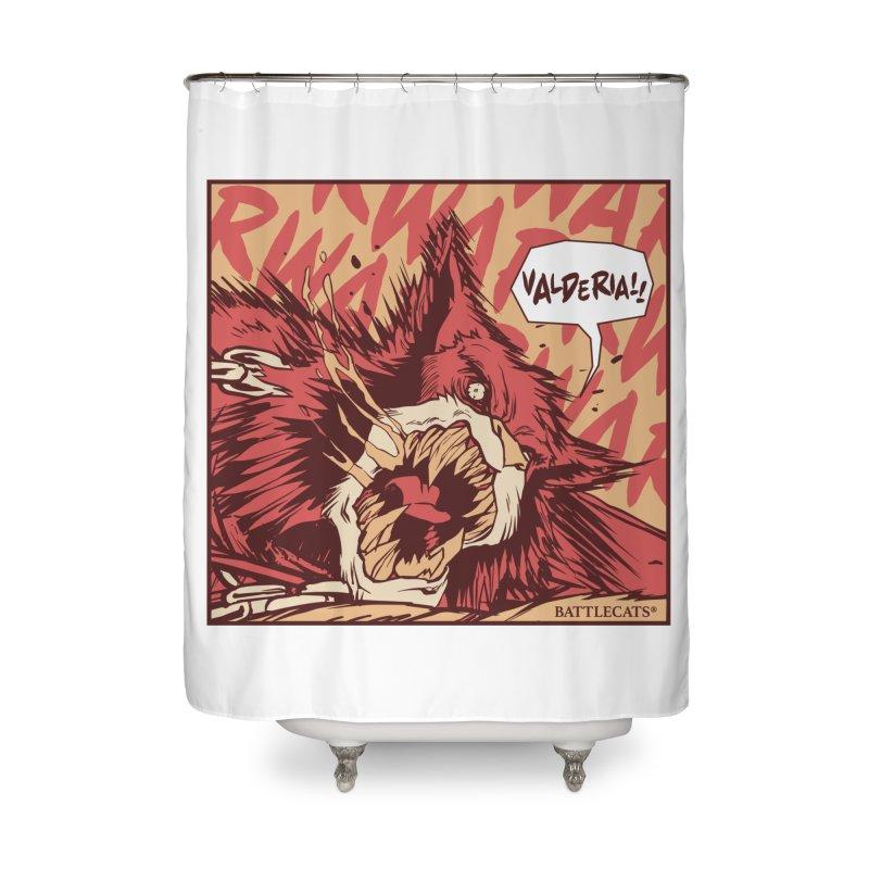 Battlecats Pop Art - Valderia! Home Shower Curtain by Mad Cave Studios's Artist Shop