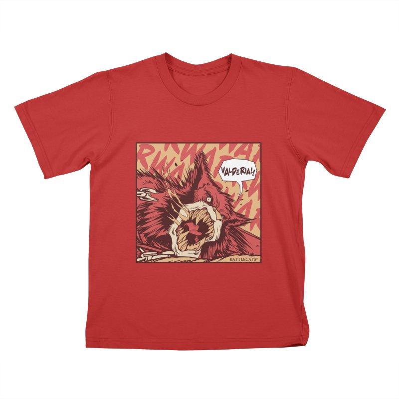 Battlecats Pop Art - Valderia! Kids T-Shirt by Mad Cave Studios's Artist Shop
