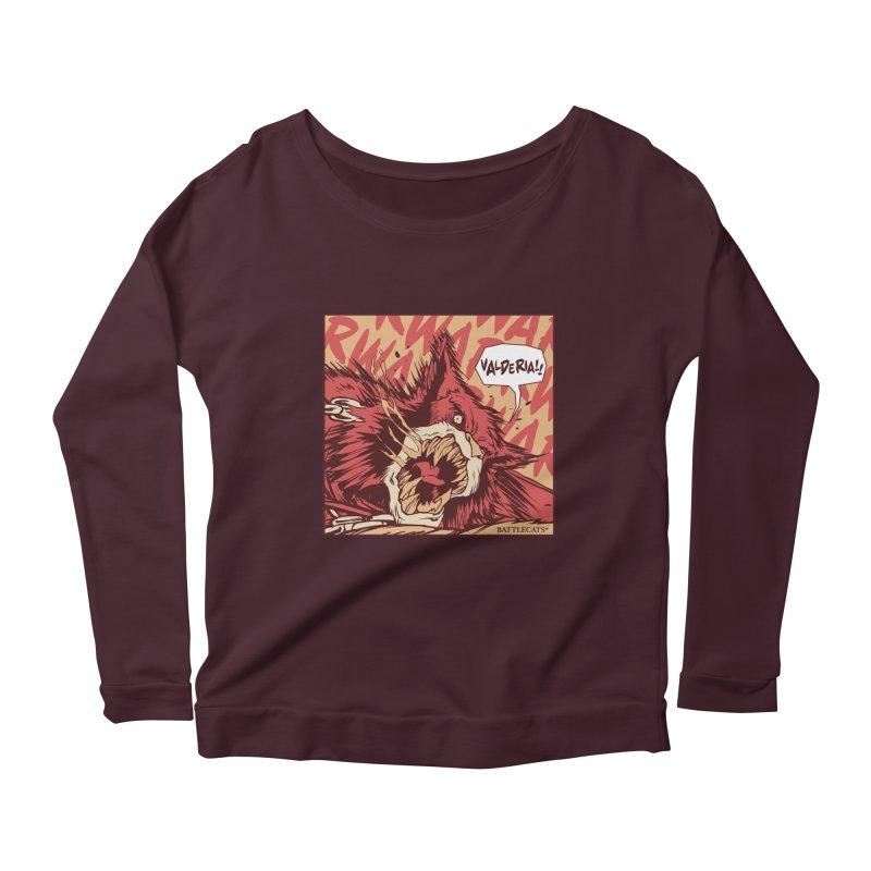 Battlecats Pop Art - Valderia! Women's Scoop Neck Longsleeve T-Shirt by Mad Cave Studios's Artist Shop