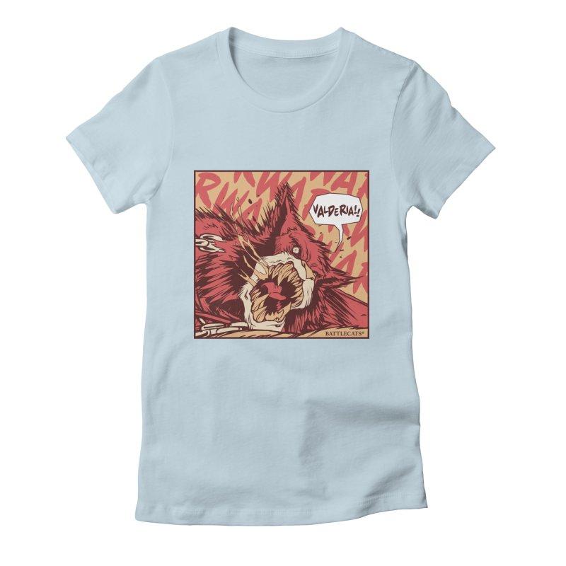 Battlecats Pop Art - Valderia! Women's Fitted T-Shirt by Mad Cave Studios's Artist Shop