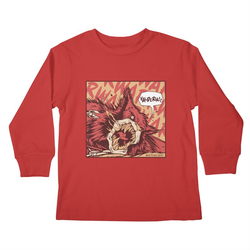 Battlecats Pop Art - Valderia! Kids Longsleeve T-Shirt by Mad Cave Studios's Artist Shop