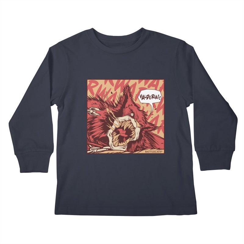 Battlecats Pop Art - Valderia! Kids Longsleeve T-Shirt by MadCaveStudios's Artist Shop
