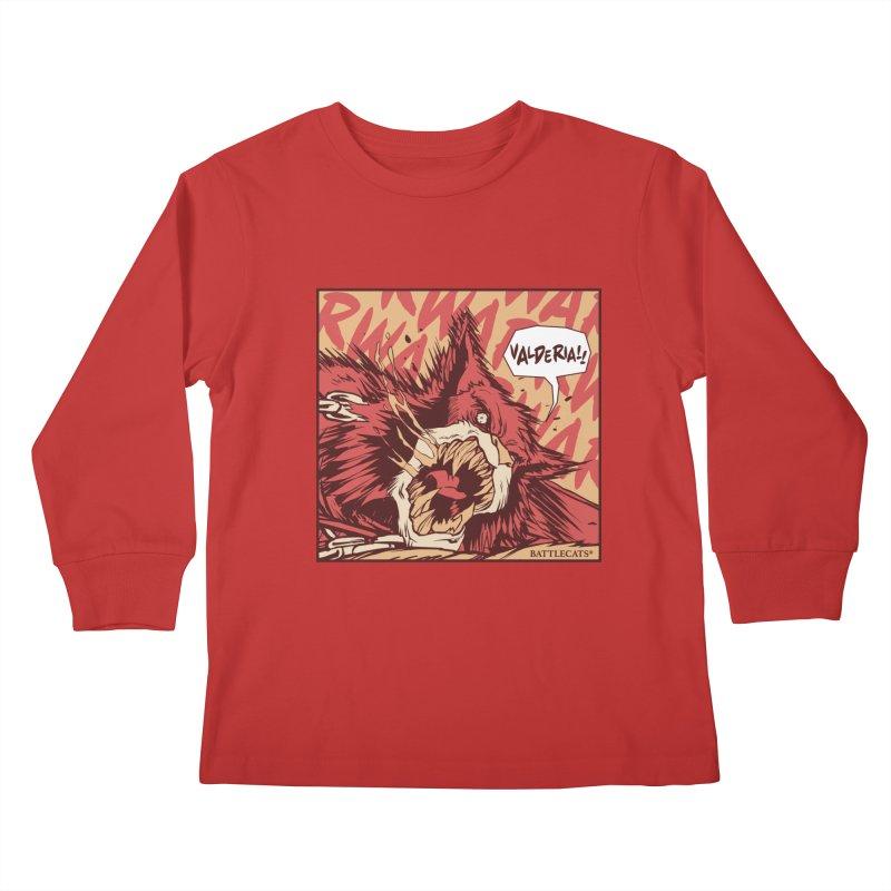 Battlecats Pop Art - Valderia! Kids Longsleeve T-Shirt by Mad Cave Studios's Artist Shop