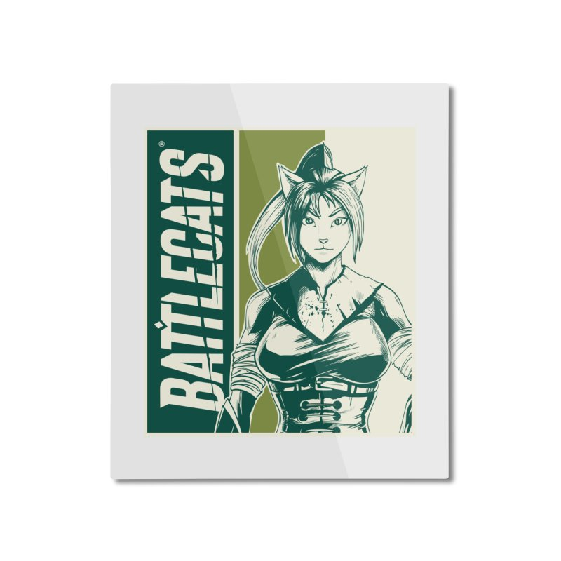 Battlecats - Kaleera Home Mounted Aluminum Print by Mad Cave Studios's Artist Shop