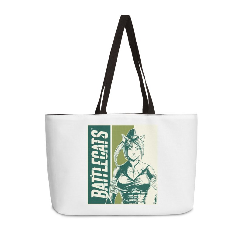Battlecats - Kaleera Accessories Weekender Bag Bag by Mad Cave Studios's Artist Shop