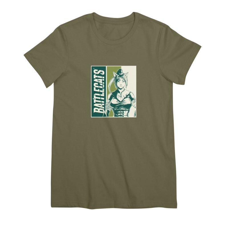 Battlecats - Kaleera Women's Premium T-Shirt by Mad Cave Studios's Artist Shop